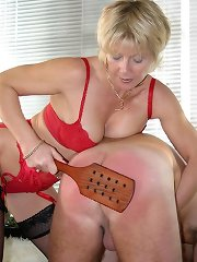Blonde wife punished husband