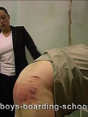 Searing hot caning on guys clear ass