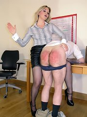 Male was punished magnetism the office