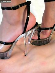 Heel and barefeet trampling