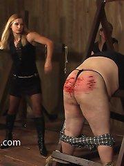 Bloody femdom caning