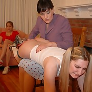 "Perverted lesbians playing ""mom added to daughter"" added to use spanking"