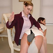 """Teacher and student"" role-play with hot spanking hallucinogenic"