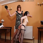 Sarah drubbing her bad house girl slut