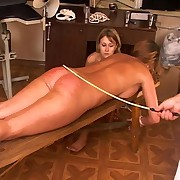 Severe caning of teen girl