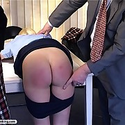 Blonde tart is spanked and humiliated by her parents