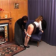 Caning of humble bus girl