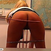 These blondes get more spanking after class
