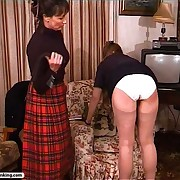 English omnibus brats get their round firm asses caned