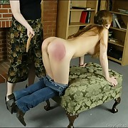 Teen asses and hands got rough caning and tough paddling