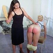 Wanton femme has stern spanks on her nates