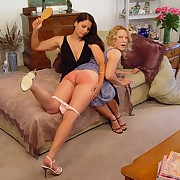 Bad blonde was spanked
