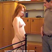 Husband punished a redhead wife