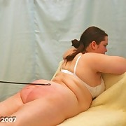 Chubby slut was beaten with different tools