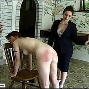 A pair of schoolgirls get their phat asses spanked paddled and caned