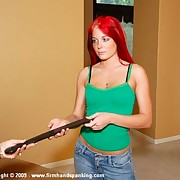 Mother punished redhead teen