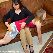 Teen girl was spanked