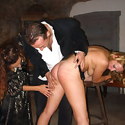 Flaxen-haired babe punished