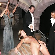 Pulling mollycoddle brutishly whipped in dungeon