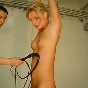 Whipping of blonde bitch