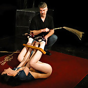 Bound, flogged together with forced to cum