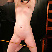 Slut caned and tormented