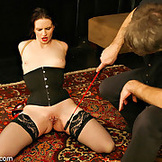 Real torture of bound girl