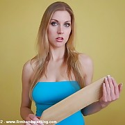 12 with a wooden paddle on tight jeans teaches Belinda Lawson obedience
