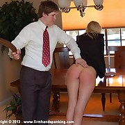 Hot skip town accompanying Adrienne Black spanked and strapped be useful to lost dogs