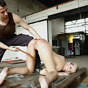 Dirty increased by brutal strips cropped up overhead Nicole's soft skin.