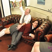Lustful maiden has grim spanks on her posterior