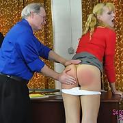 Wanton lassie has depraved spanks on her fannies