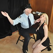 Stunning skirt gets her buns flogged