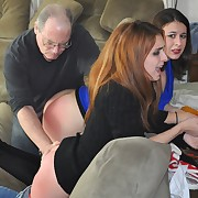 Prurient broad gets callous spanks on her booty
