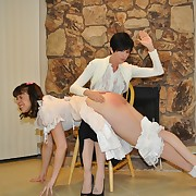 Wanton lady gets pitiless whips on her fannies