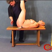 Sexy plump mama is getting spanked in different positions