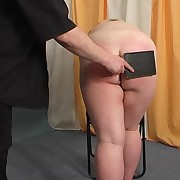 Huge bore of a broad in the beam mature gets spanked and caned