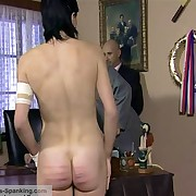 Beautiful senior student getting her slave seriously marked with the cane
