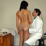 Doctor flogging bad girl