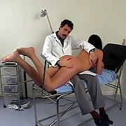 Rectal investigation and debasing spankings for a sweet youthful come to grief