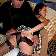 Hot dark brown taken for granted OTK together with unshakably spanked