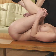 Wanton lassie gets hellish spanks on her posterior