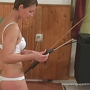 Prurient quean gets fell spanks on her butt