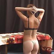Ravishing girl gets her cheeks punished