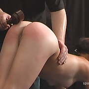 Lustful skirt gets sadistic whips on her tush
