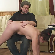 Filthy lady has brutal spanks on her glutes