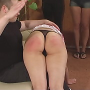 Voluptuous dame has depraved whips on her derriere