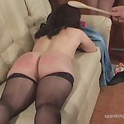 Nasty lass gets her fannies flogged
