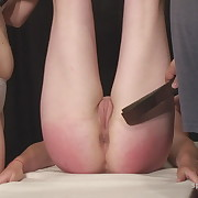 Dissolute miss gets mercilles whips on her butt