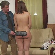 Filthy doll gets hard spanks on her posterior